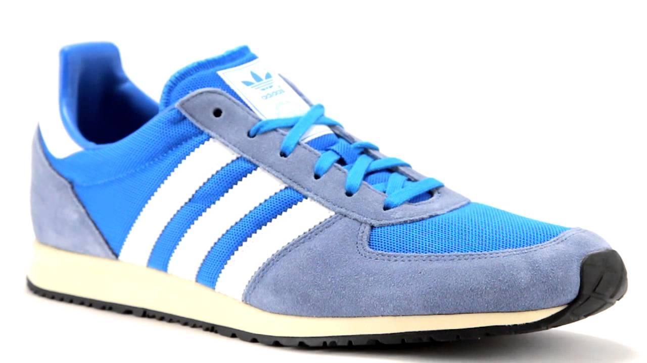 5d9fb36a886 Adidas ADISTAR RACER blauwe lage sneaker - YouTube