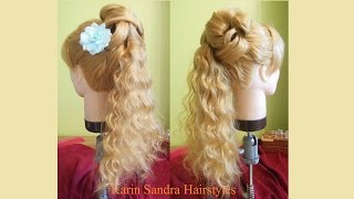Romantic hairstyle with curls | Wedding Prom Bridal hairstyle | Curly updo | Wedding updo