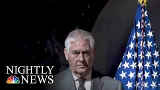 Rex Tillerson Refuses To Acknowledge Calling President Donald Trump A 'Moron' | NBC Nightly News