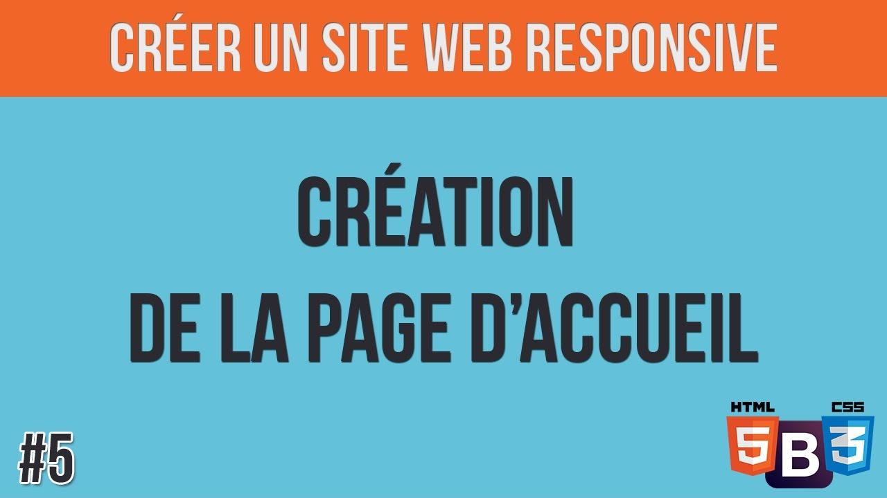 5 Créer un site web responsive  - Création de la page d accueil ... a8177cedf74a