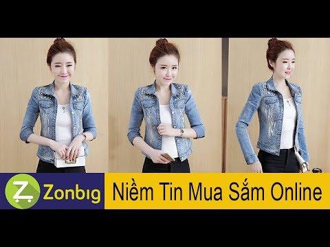 [Zonbig.com] - Áo Khoác Jean Đính Kim Sa