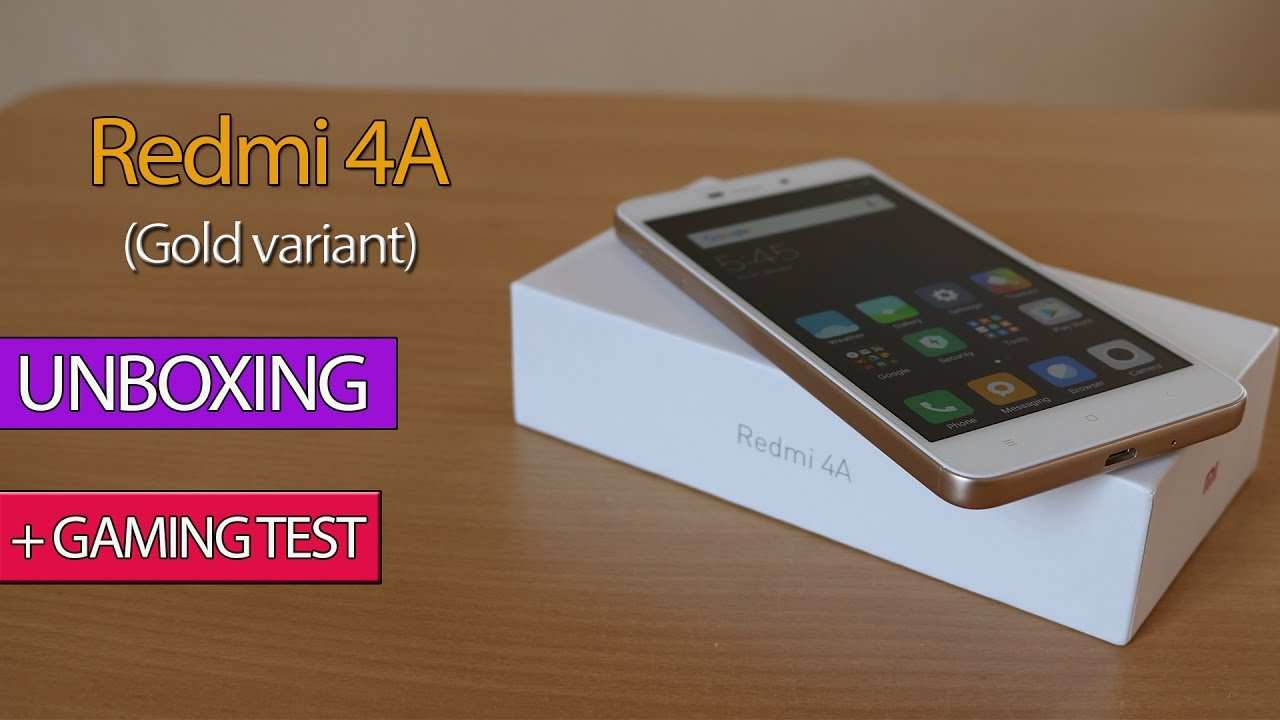 Redmi 4a Gold Colour Unboxing Gaming Test Youtube Xiaomi 2gb 16gb