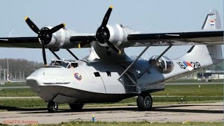 [4K] PBY-5A CATALINA makes its last flights in the Netherlands Lelystad Airport (EHLE)