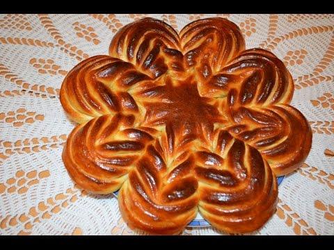 Цветок из дрожжевого теста Deutsche Untertitel.Моя идея,Meine Idee,My Idea.Flower Bread.