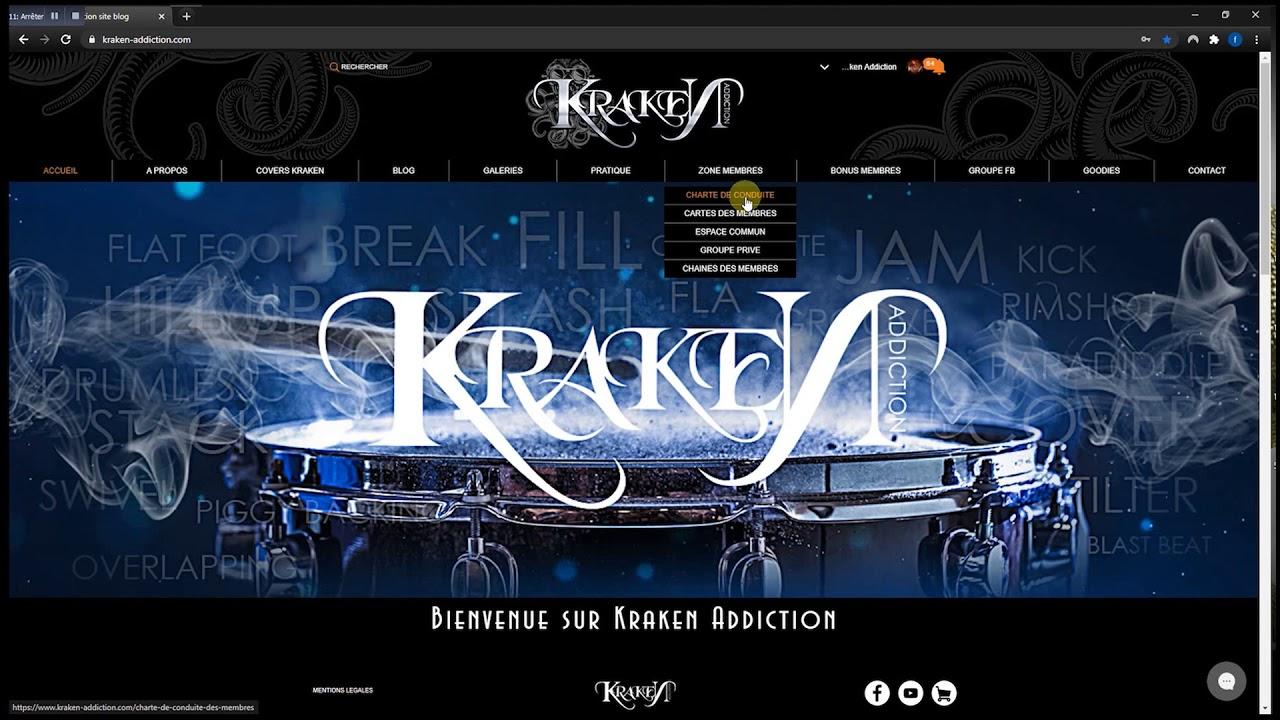 Tuto outils et possibilités des comptes membres du site www.kraken-addiction.com