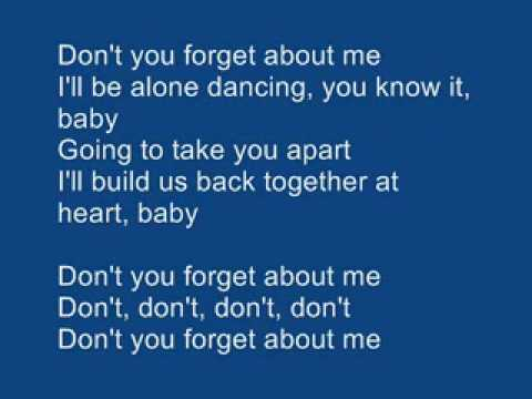 Simple Minds Don't You Forget About Me Karaoke