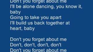 simple minds don t you forget about me karaoke