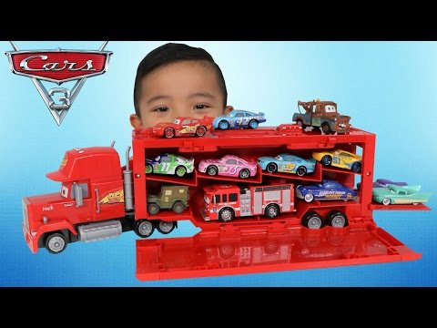 Thumbnail: NEW Disney Cars 3 Toys Mack Playcase Unboxing Fire Truck Lightning McQueen Cruz Ramirez