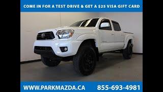 WHITE 2013 Toyota Tacoma  Review Sherwood Park Alberta - Park Mazda