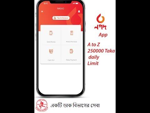 Nagad App নগদ পোস্টঅফিস  মোবাইল ব্যাংকিং অ্যাপ Nagad Mobile banking App Review ২৫০০০০ দৈনিক লিমিট