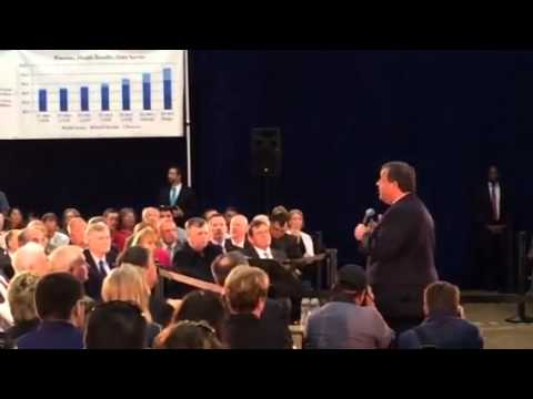 Governor Chris Christie speaks at Sussex County Technical School  in Sparta