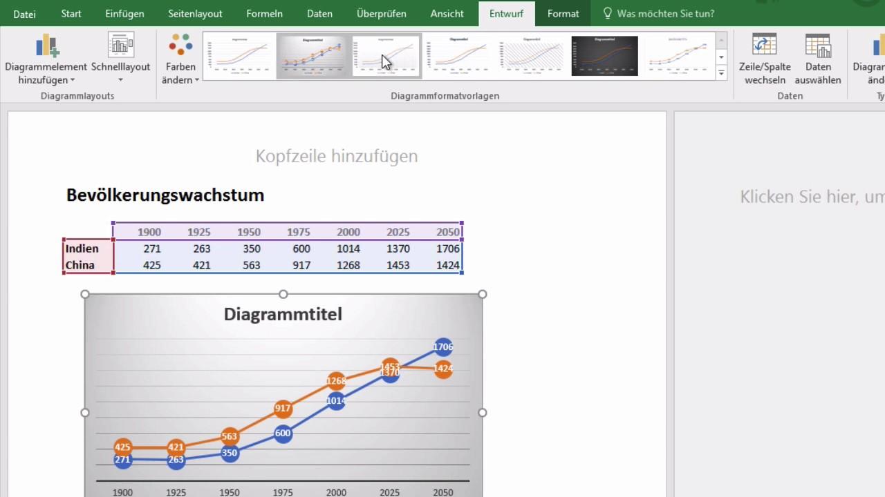 Excel 2016 Windows  42 Diagramm Erstellen
