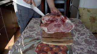 Буженина, готовим свиной окорок на 9 кг. Baked ham, prepare the ham for 9 kg.