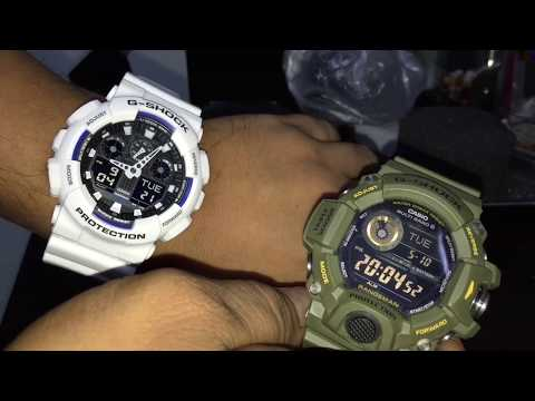 22d5e5f431e3 Casio G-Shock White Digital Watch Unboxing GA-100B-7A - YouTube