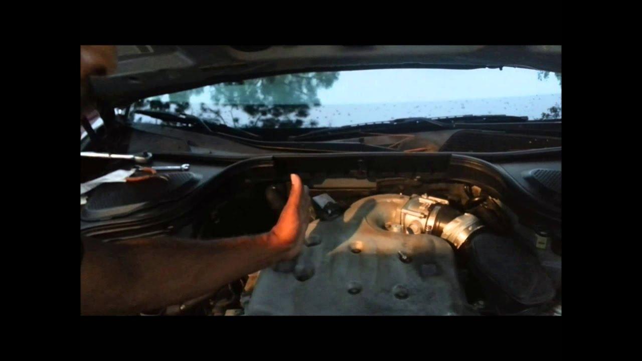 2003 Nissan Pathfinder Engine Diagram Kenwood Kvt 514 Wiring 2 How To The Replace Camshaft Sensor On Infiniti M35 G35 Fx35 350z Altima 3 5 Pt 1 - Youtube