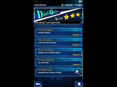 Yugioh Duel Links - Duel Quiz Level 3 : Generation Next 2