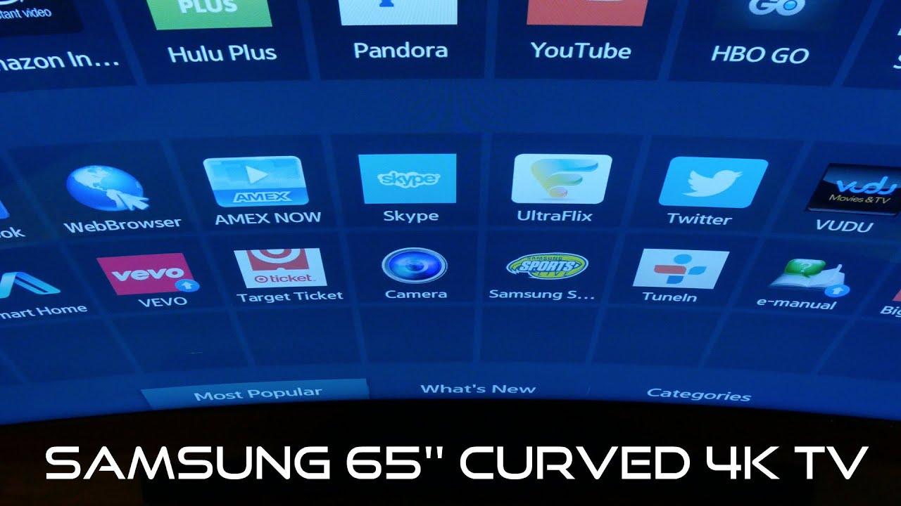 first test samsung 65 39 39 curved 4k tv youtube. Black Bedroom Furniture Sets. Home Design Ideas