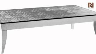 Modern Glass Square Coffee Table - Othello Vgwctem-8cf002