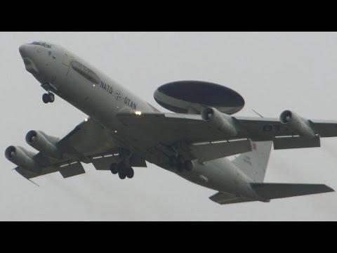 NATO ► Boeing E-3A Sentry AWACS ► Low approach ✈ Groningen Airport Eelde