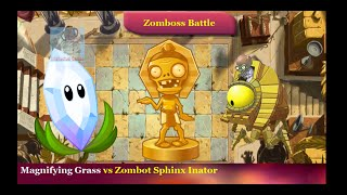 Plants vs Zombies 2 - Magnifying Grass vs Zombot Sphinx Inator Plants vs Zombies 2
