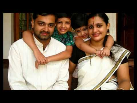 Music Director Bijibal with Family   Wife Santhi   Children