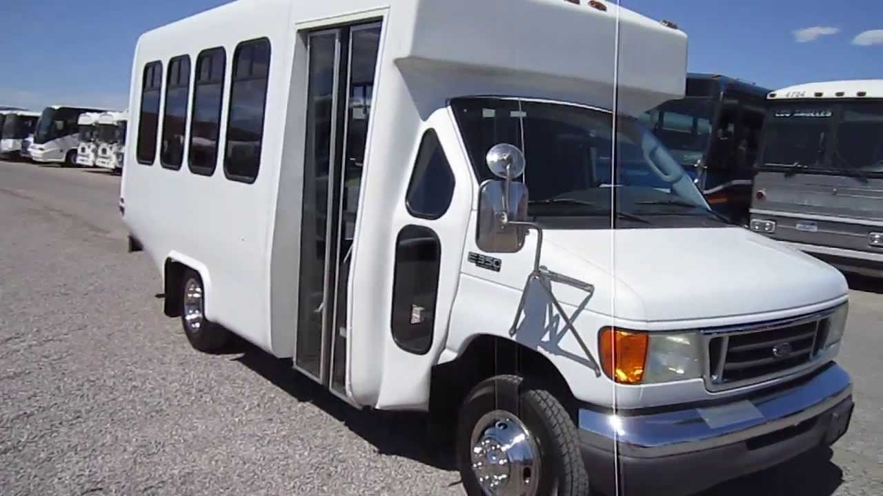 used shuttle bus 2003 ford e350 diamond coach with 16. Black Bedroom Furniture Sets. Home Design Ideas