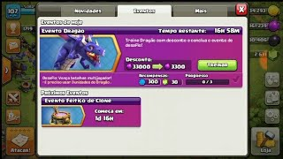 Clash of clans evento do dragão