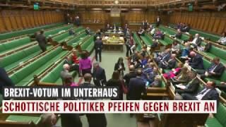 Brexit-Protest im Unterhaus: Abgeordnete pfeifen Europa-Hymne