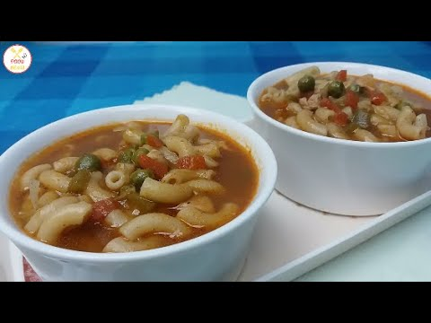 Macaroni Soup   Simple And Easy Soup   Restaurant Style Recipe   By Food Media   Hot And Sour Soup
