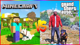 Gta 5 Vs Minecraft | Which game is better ? 🤔