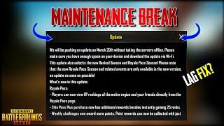 Maintenance Break PUBG Mobile 0.11.5 New Update is Here