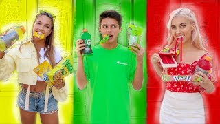 Download EATING ONLY ONE COLORED FOOD FOR 24 HOURS | Brent Rivera Mp3 and Videos