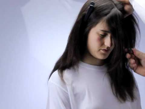 how to cut layers and trim long hair at home using