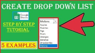 How to Create Drop Down list in Google Sheet Step by step Tutorial