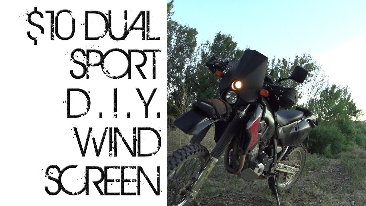 O O Diy 10 Dual Sport Motorcycle Windscreen Mod Drz Dr