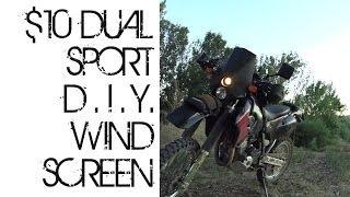 o#o DIY $10 Dual Sport Motorcycle Windscreen Mod (DRZ, DR, WR, CRF, Trailtech, Universal!)