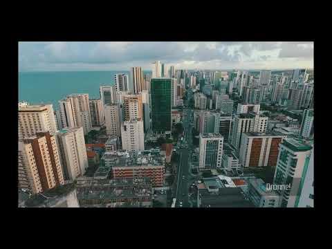 Recife filmado com o drone boa viagem lindo de mais