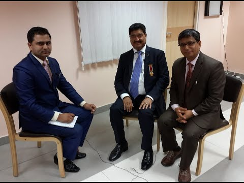 Billionaire  DR  B R  Shetty on BTV Bishesh with BTV CEO Shambhu Pokharel