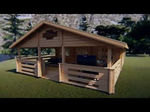 Two Bedroom Log Cabin Holiday F 50m2 YouTube