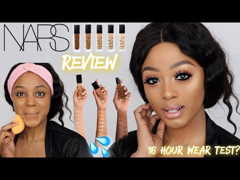 NEW NARS NATURAL RADIANT LONGWEAR FOUNDATION REVIEW + WEAR TEST