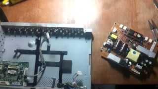 Ремонт монитора LG L204W своими руками, часть 2. Сборка и проверка монитора