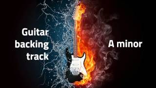 Guitar backing track A minor (mellow jamming track)