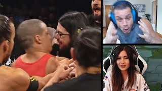 "TYLER1 REACTS TO HIM VS IMAQTPIE WWE VS NXT MATCH | YASSUO: ""ARE YOU OK KOREA?"" 