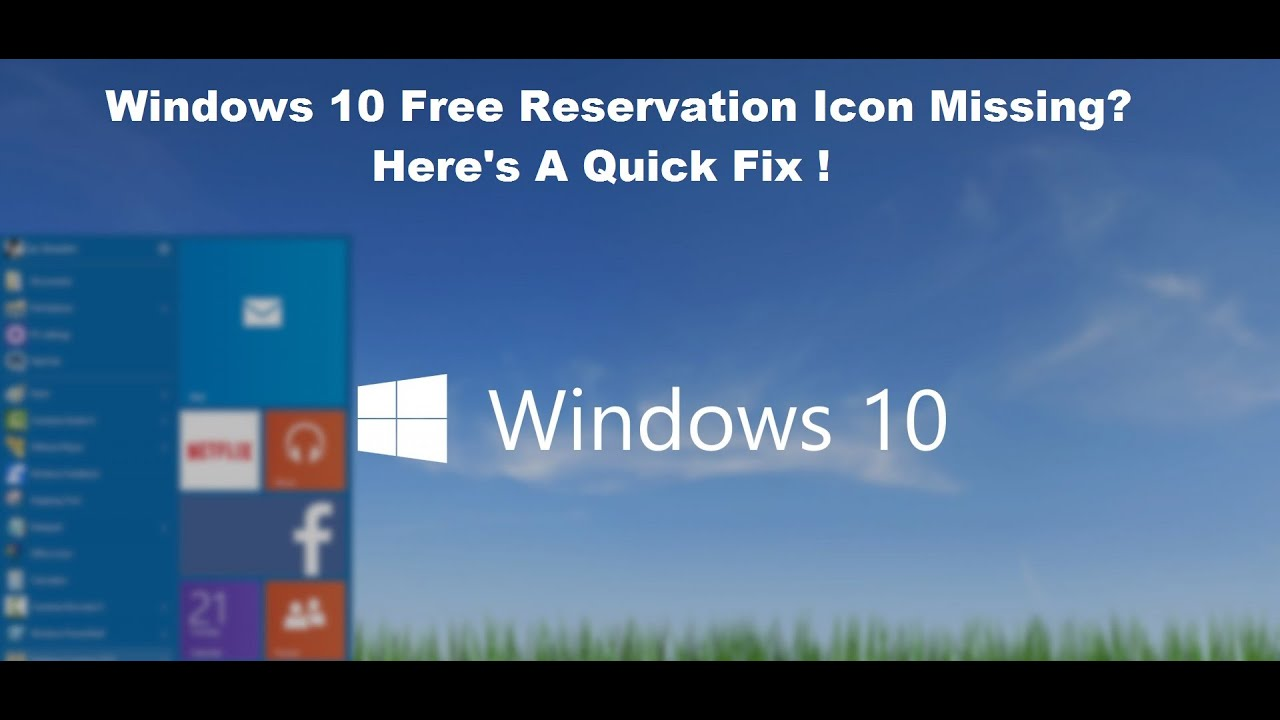 How To Fix Windows 10 Free Reservation Problem [Tutorial ...