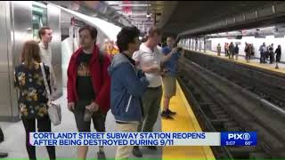Subway station reopens after 17 years after being destroyed during 9/11