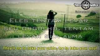 Обложка Three Days Grace Unbreakable Heart Legendado Lyrics HD