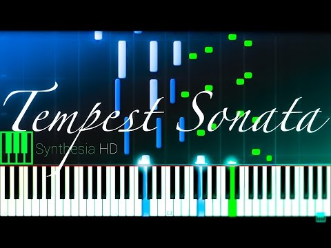 "Beethoven: ""Tempest"" Piano Sonata No. 17 in D minor - Complete [Piano Tutorial] (Synthesia)"