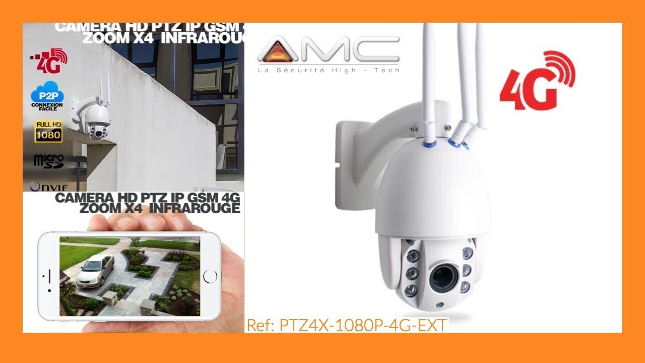 Camera De Surveillance Exterieur Sans Fil Axis CamÉra Ptz Hd 1080p Ip Wi Fi Gsm 4g Infrarouge Zoom X4 Secutec Fr