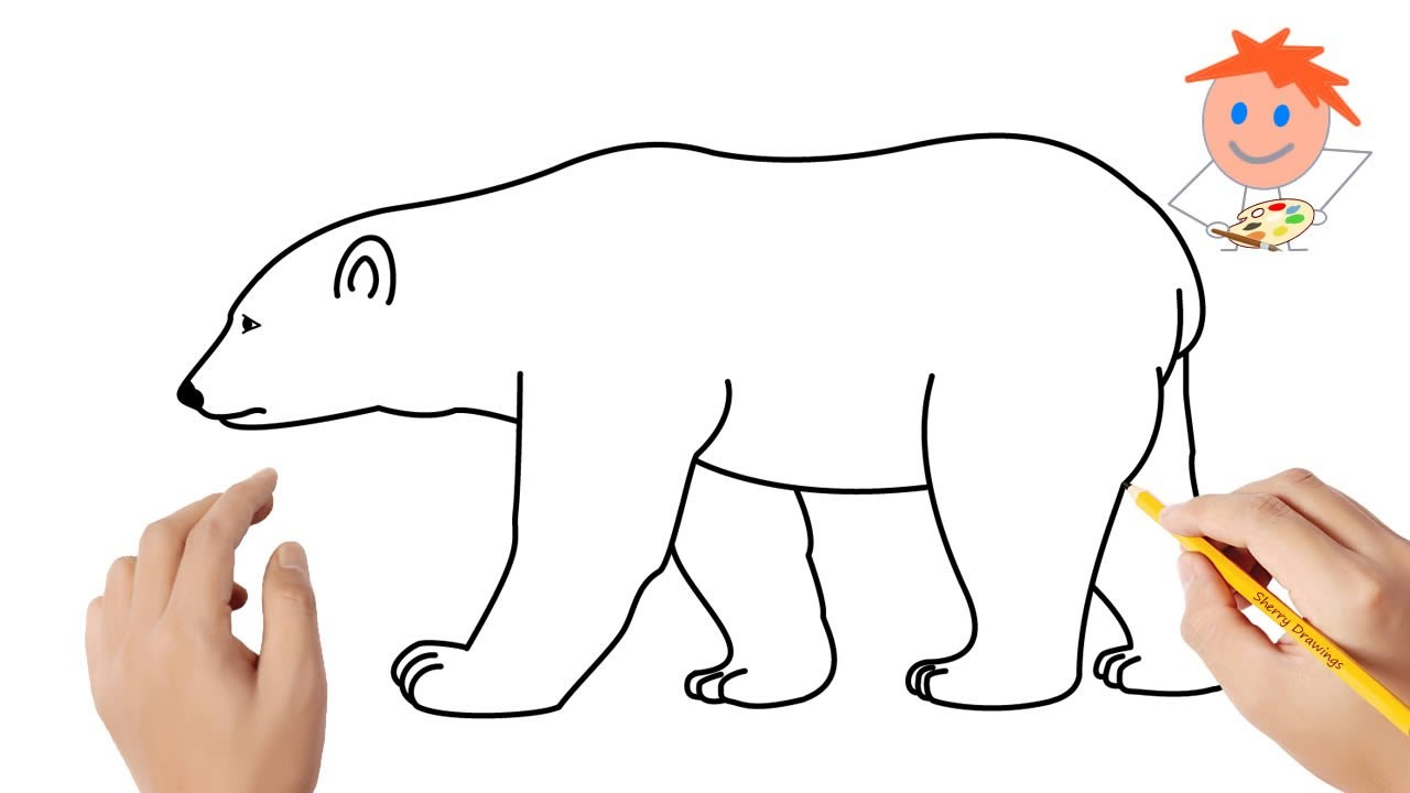 How To Draw A Polar Bear Easy Step By Step Drawing For Kids