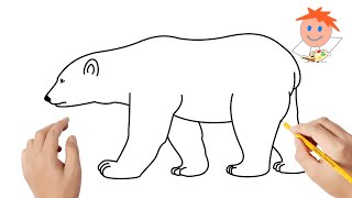 How To Draw Polar Bear For Kids Videos Infinitube